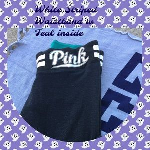 HP🎉Dk  Gray PINK Crops with Striped waistband