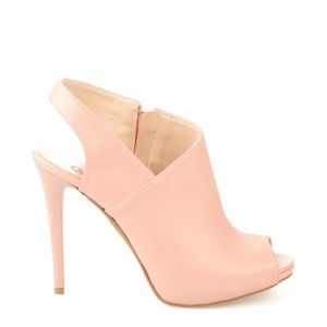 HP! Dust Pink Open Toe Heels  Size 8