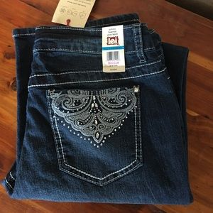 lei jeans with bling pockets NWT