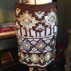 Dresses & Skirts - ⭐NWT️Shimmering brown skirt⭐️