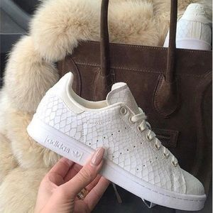 Adidas Stan Smith off-white reptile sneakers