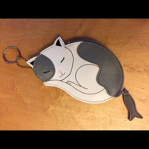 Vintage cat coin purse