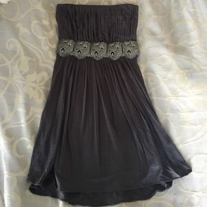 Grey with metal accents dress - Sky