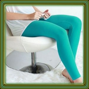 Teal Buttery Soft Solid Color Leggings