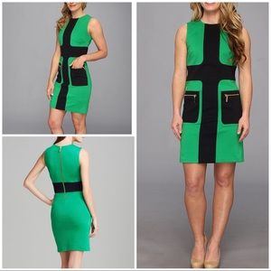 MICHAEL Michael Kors Color -block Mod Zip Dress