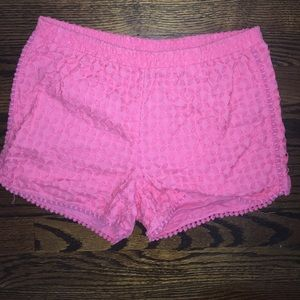 Pink crochet lilly for target shorts