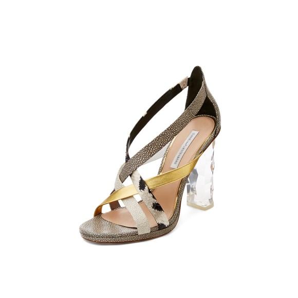 DVF Diane Von Furstenberg Ibiza Heels  7.5