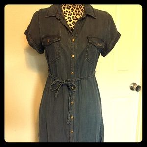 NWT Woven Denim Shirt Dress