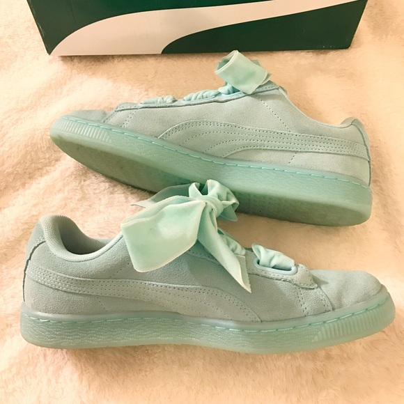 new styles 2574c ff202 New Puma Mint Ribbon Sneakers NWT