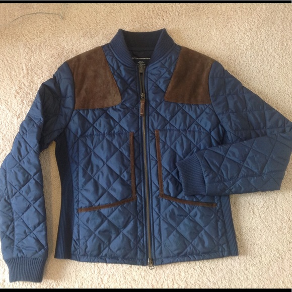 980c44462 Ralph Lauren quilted jacket with leather trim. M 59bedc2afbf6f9591e09254a