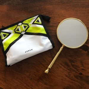 Handbags - NWOT Makeup Pouch and 2 Sided Mirror