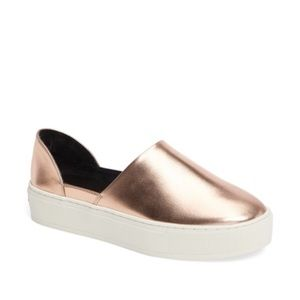 Rose gold Rebecca minkoff slip on sneakers