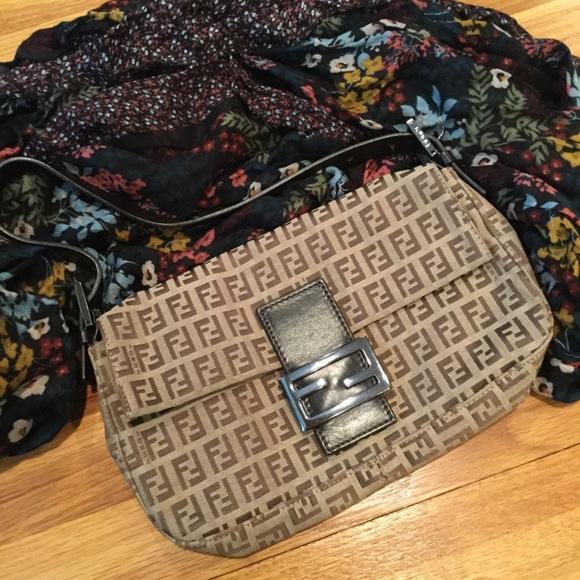 Fendi Handbags - Fendi Zucca Baguette Bag ecce4562a3f3