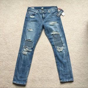 [NWT] True Religion Distressed Boyfriend Jeans