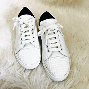 Rebecca minkoff detailed toe white sneakers