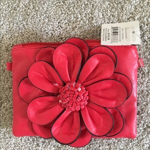 Handbags - Red clutch with overbody strap