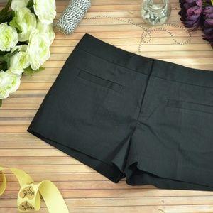 Club Monaco Black Flat Front Shorts