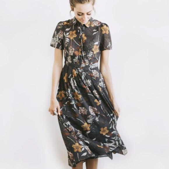 1df3fd623256 Paige Avenue Dresses | Button Down Midi Floral Dress | Poshmark