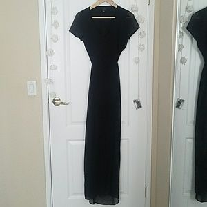 Open back maxi dress with slits S