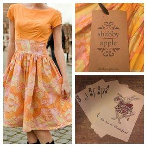 NEW Shabby Apple Dress M Retro Paisley Pouf