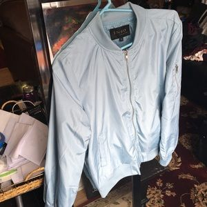 Baby Blue Lightweight Bomber Jacket