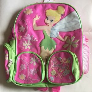 """Tinkerbell 12"""" backpack with water bottle"""