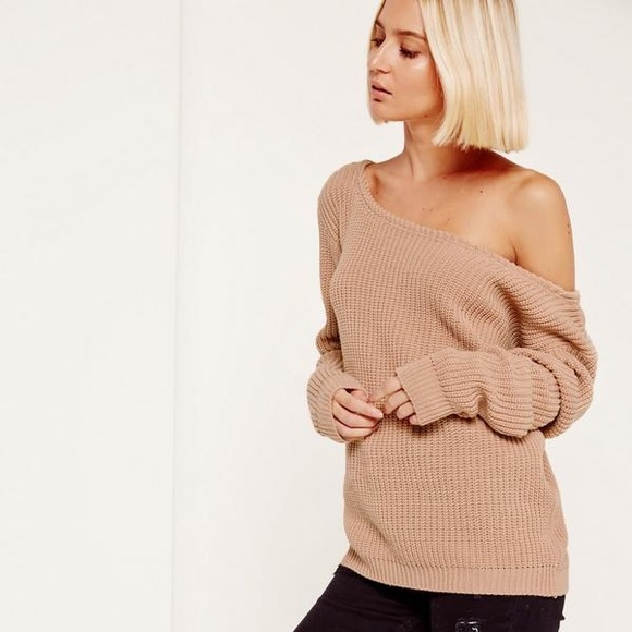 8c85435c548 Missguided Ophelia off shoulder knit sweater