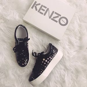 • KENZO • Perforated K-Lace Platform Sneaker 39 9
