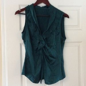 Women's Tahari blouse emerald green size M