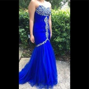 Strapless Royal Blue mermaid dress