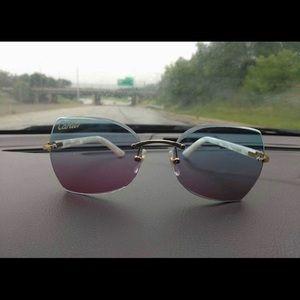 22c028b45ece Accessories - White buffalo horn Cartier glasses