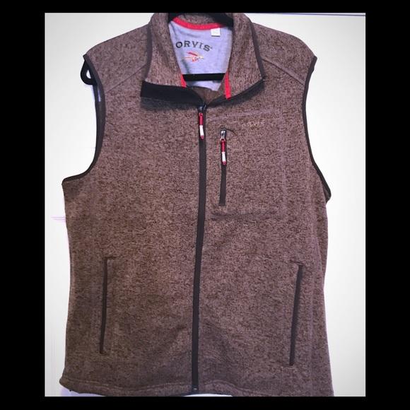 771f21d384bc07 Men s Orvis windproof fleece sweater vest size-XL