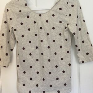 Forever 21 Polka Dot Scoop Neck Top