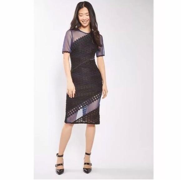 610e20cafe7bd Topshop Dresses   Womens Blue Honeycomb Airtex Midi Dress   Poshmark