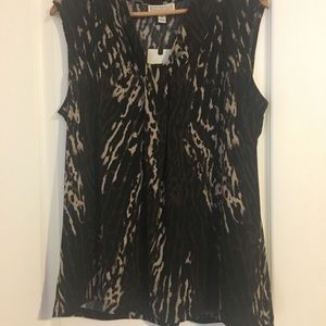 NWT animal print sleeveless top