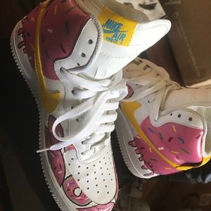 acf3776838e1 Nike Shoes - Custom Simpsons Donut Af1