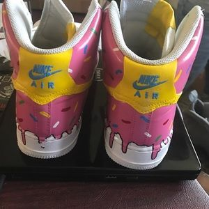 Homer simpson donut swoosh Air force one ,custom sneaker
