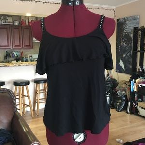 Juicy Couture Off the Shoulder Rhinestone Blouse