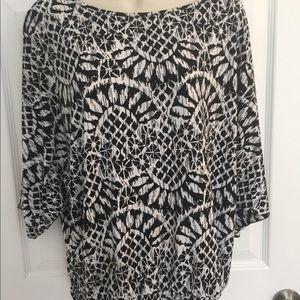 Black & white Style & Co top, size L