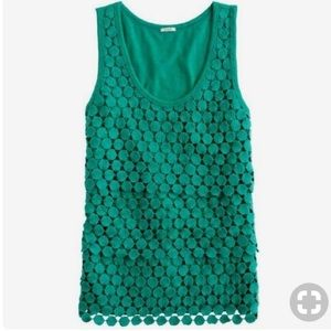 J. Crew - Tiered Dot Tank in Jersey Green
