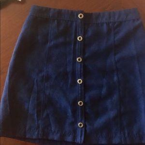 Hollister Navy Blue A-Line Skirt
