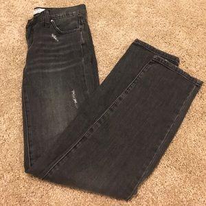 Cute black denim distressed jeans!