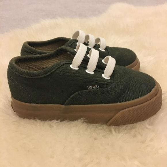 Vans Shoes   Barely Worn Olive Green