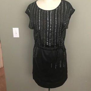 Embellished Drop Waisted Dress