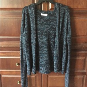 A&F Gilly Hicks Open Front Hooded Cardigan Size XS