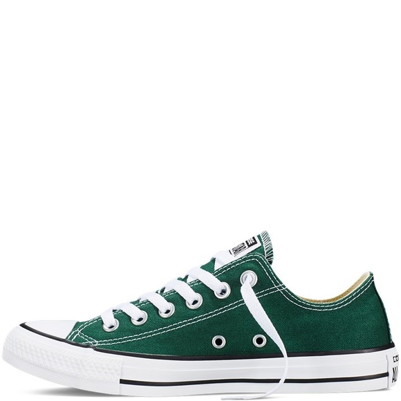 Converse Shoes - Dark Green Converse All Star Low Tops 1786c48cc5b3