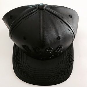 Accessories - Black leather hat