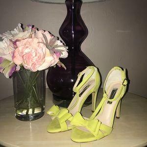 Yellow T strap sandal