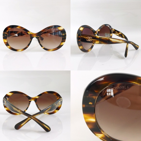 cfcc17d0a9 CHANEL Accessories - Chanel Dark Tortoise Oval Summer Sunglasses