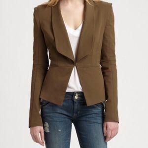 Rebecca minkoff olive green blazer